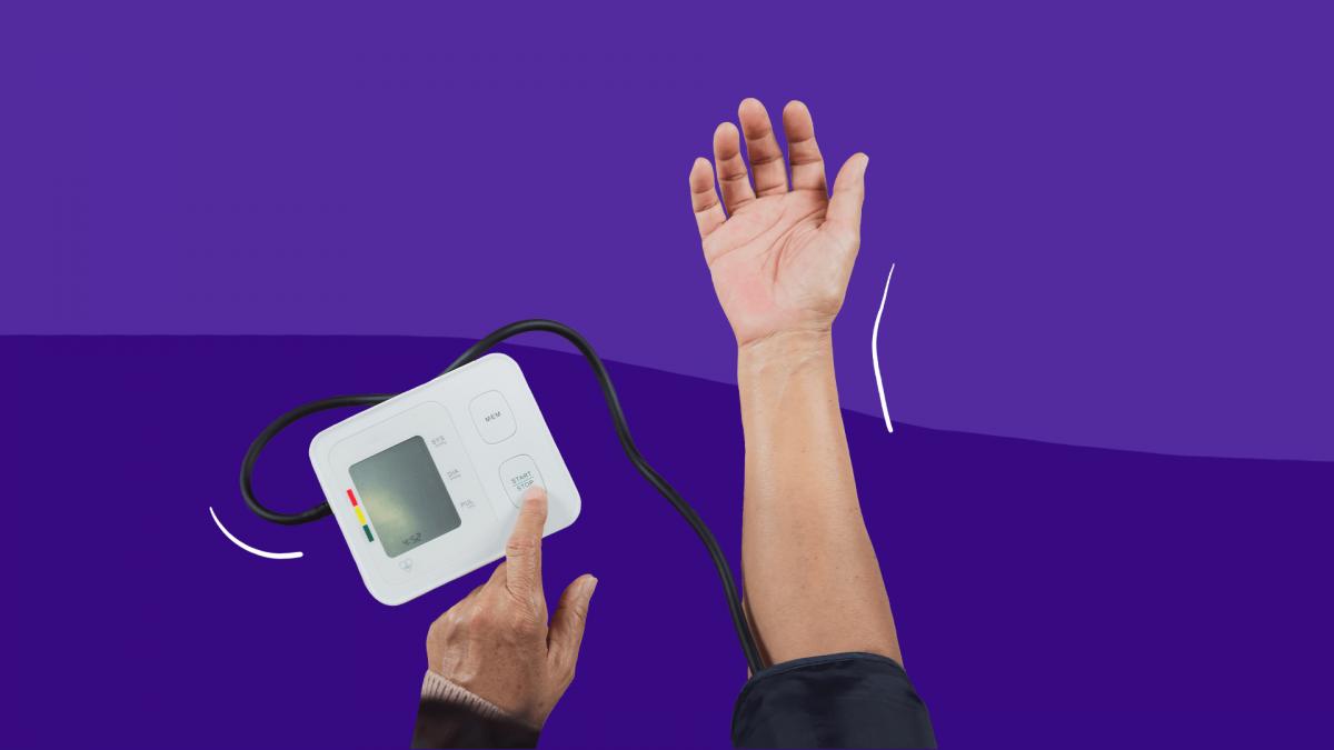 Can stress cause high blood pressure? A man checks his at home