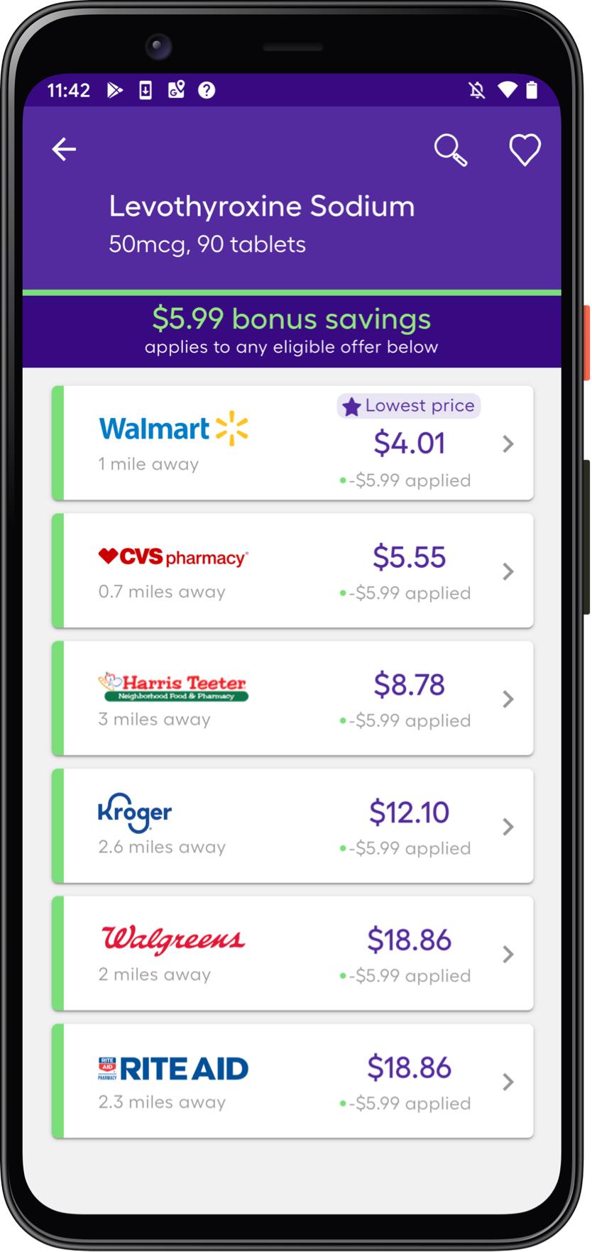 Cvs Prescription Discount Card Pharmacy Savings Up To 80